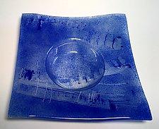 Ikebana Violet Blue I by Alicia Kelemen (Art Glass Vase)