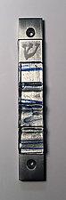 Mezuzah Jacobs Ladder Blue by Alicia Kelemen (Art Glass Mezuzah)