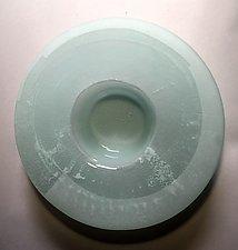 Ikebana White by Alicia Kelemen (Art Glass Vase)