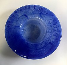 Ikebana Blue by Alicia Kelemen (Art Glass Vase)