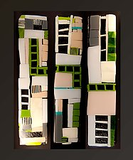 Green Path by Vicky Kokolski and Meg Branzetti (Art Glass Wall Sculpture)