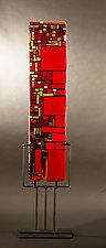 Red Mosaic by Vicky Kokolski and Meg Branzetti (Art Glass Sculpture)