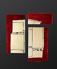 Openings I by Vicky Kokolski and Meg Branzetti (Art Glass Wall Sculpture)
