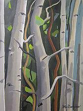 Dancing Aspen by Meredith Nemirov (Oil Painting)
