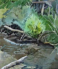 My Place by the River by Meredith Nemirov (Watercolor Painting)