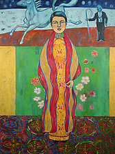 Reversed Klimt by Chin Yuen (Acrylic Painting)