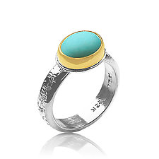 Oasis Ring by Nancy Troske (Gold, Silver, & Stone Ring)