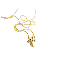 Tiny Angelfish by Nancy Troske (Gold Necklace)