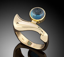 Blue Tourmaline 14K Ring by Ben Dyer (Gold & Stone Ring)