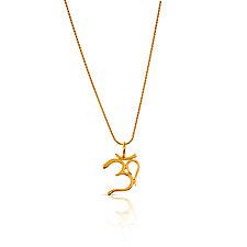 OM Necklace by Nancy Troske (Gold Necklace)