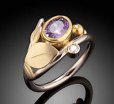 Purplish Pink Sapphire Ring by Ben Dyer (Gold & Stone Ring)