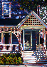 Porch Patterns by Caroline Jasper (Oil Painting)