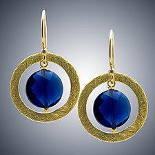 Blue Quartz and Vermeil Earrings by Judy Bliss (Gold & Stone Earrings)