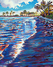Sapphire Shore by Caroline Jasper (Oil Painting)