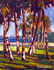 Palm Fence by Caroline Jasper (Oil Painting)