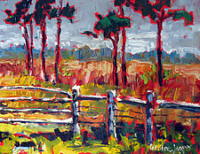 Fenced by Caroline Jasper (Oil Painting)