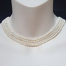 Cream Colored Four Stand Pearl Necklace by Kathleen Lynagh (Pearl Necklace)