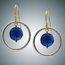 Blue Quartz and Sterling Silver Earrings by Judy Bliss (Silver & Stone Earrings)