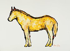 Yellow Horse Study #1 by Janice Sugg (Drawing on Paper)