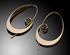 Awesome! Big Gold Earrings by Ben Dyer (Gold Earrings)