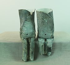 Belly Button Group 6 by Loren Yagoda (Ceramic Sculpture)