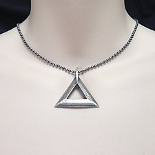 Sterling Silver Triangle Pendant by Kathleen Lynagh (Silver Necklace)
