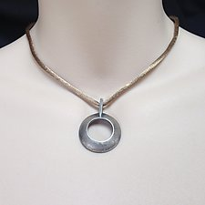 Sterling Silver Circle Pendant by Kathleen Lynagh (Silver Necklace)