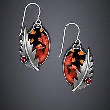 Cardinal Earrings by Dawn Estrin (Silver Earrings)