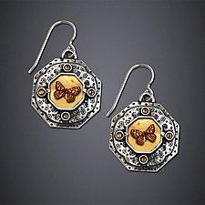 Argus Moth Earrings by Dawn Estrin (Silver Earrings)