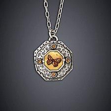 Argus Moth Necklace by Dawn Estrin (Silver Necklace)