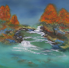 Resting Place near a Stream by Cheryl Williams (Acrylic Painting)