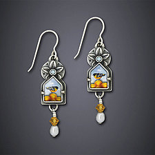 Oriole Sky Earrings by Dawn Estrin (Silver Earrings)