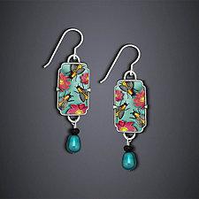 Summer Bees Earrings II by Dawn Estrin (Silver Earrings)