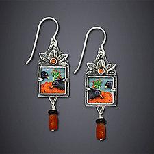 Blackbird Earrings by Dawn Estrin (Silver Earrings)