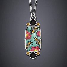Summer Bees Necklace by Dawn Estrin (Silver Necklace)