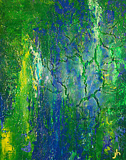 Conversation tween Blue & Yellow by Jerry Hardesty (Acrylic Painting)
