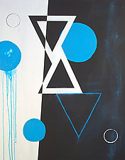Blue Triangle by Jerry Hardesty (Acrylic Painting)