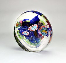 Round Optical by Wes Hunting (Art Glass Sculpture)