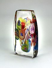 Tall Optical by Wes Hunting (Art Glass Sculpture)