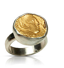 Alexander the Great Ring by Nancy Troske (Gold & Silver Ring)