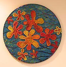 Summer Blooms by Patty Carmody Smith (Art Glass Wall Sculpture)