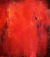 Red Fusion by Karen  Hale (Acrylic Painting)