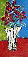 Tall Flowers by Mansfield and Collins (Acrylic Painting)