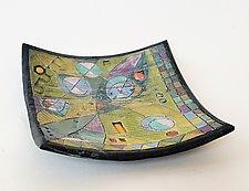 Time & Space Square Bowl by Janine Sopp (Ceramic Bowl)