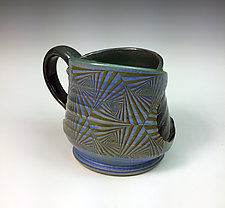 Mug with Vector Pattern by Thomas Harris (Ceramic Mug)