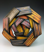 Mise en Abyme II by Thomas Harris (Ceramic Wall Sculpture)