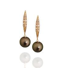 Folia by Veronica Eckert (Gold, Stone & Pearl Earrings)