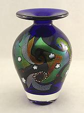 Cosmic Vase by Ken Hanson and Ingrid Hanson (Art Glass Vessel)