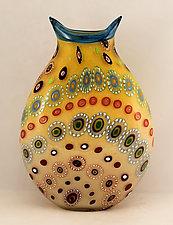 Primrose Marrakesh 1 by Ken Hanson and Ingrid Hanson (Art Glass Vessel)