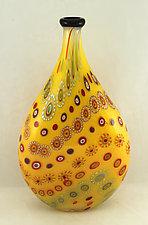Marrakesh Bottle by Ken Hanson and Ingrid Hanson (Art Glass Vessel)